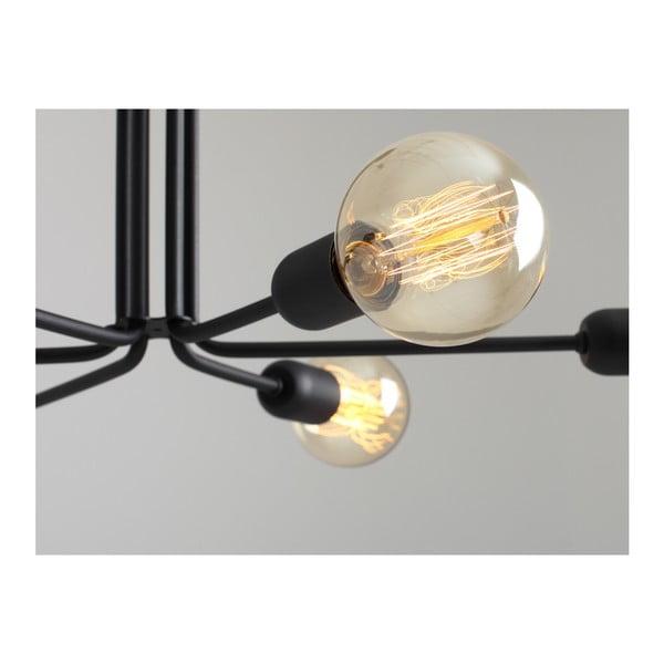 Černé závěsné světlo pro 6 žárovek Custom Form Vanwerk