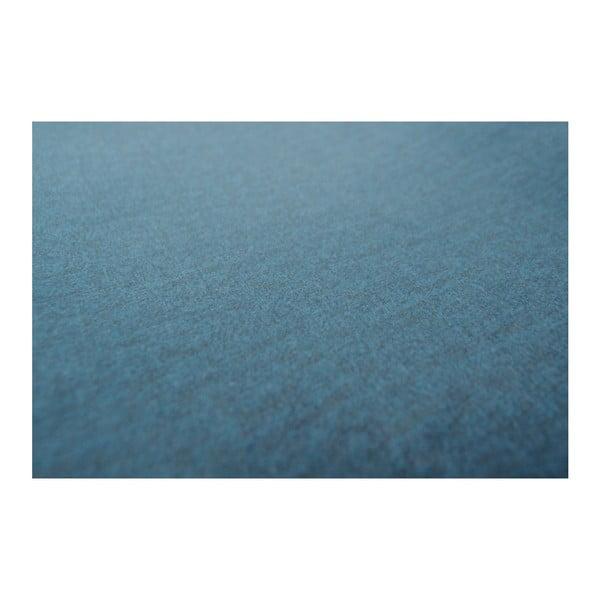 Tmavě modrá pohovka devichy Chloe, pravý roh