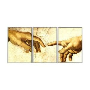 3dílný obraz Hands, 45x90 cm