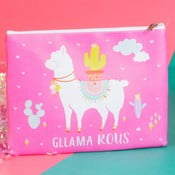 Portfard Just 4 Kids Llama Cosmetic Bag, roz