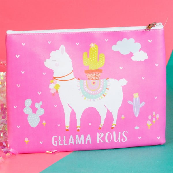 Růžová kosmetická taštička / peněženka Just 4 Kids Llama Cosmetic Bag