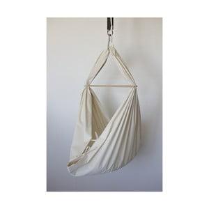 Krémová kolébka z bio bavlny se zavěšením do stropu Hojdavak Baby (0až9 měsíců)