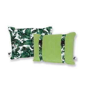 Zelený oboustranný plážový polštář Origama Leaf