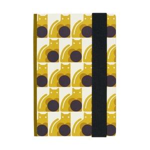 Žlutý zápisník v tvrdé vazbě Orla Kiely Poppy Cat, A5