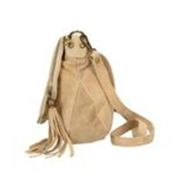 Béžová kožená kabelka Chicca Borse Sullo