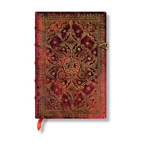 Zápisník s tvrdou vazbou Paperblanks Carmine, 9,5x14cm