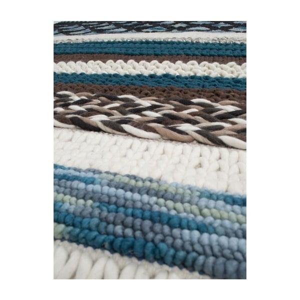 Vlněný koberec Norway Blue 240x170 cm