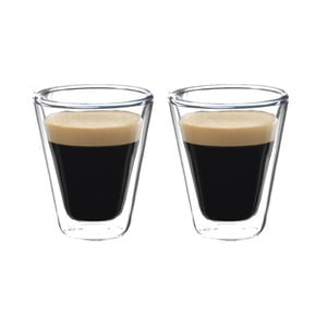 Set 2 pahare cu pereți dubli pentru cafea Bredemeijer, 85 ml