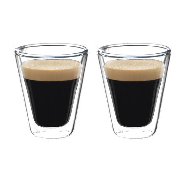 Sada 2 dvoustěnných sklenic na espresso Bredemeijer, 85ml