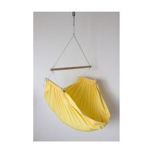 Žluté houpadlo se zavěšením do stropu Hojdavak Junior