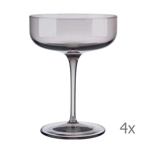 Sada 4 fialových pohárov na šampanské Blomus Fuum