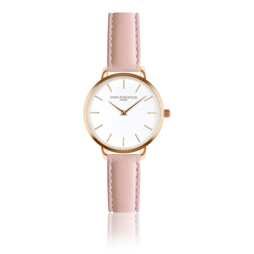 Dámské hodinky srůžovým koženým páskem Annie Rosewood Elsa