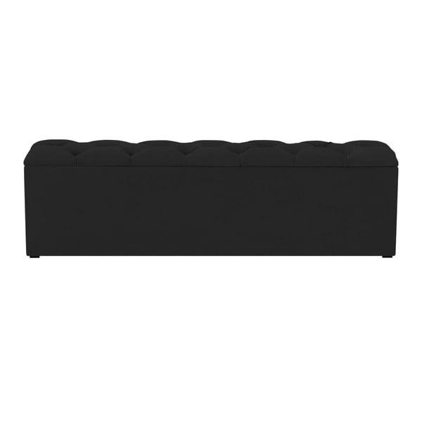 Bancă pentru pat cu spațiu de depozitare Kooko Home Manna, 47 x 180 cm, negru
