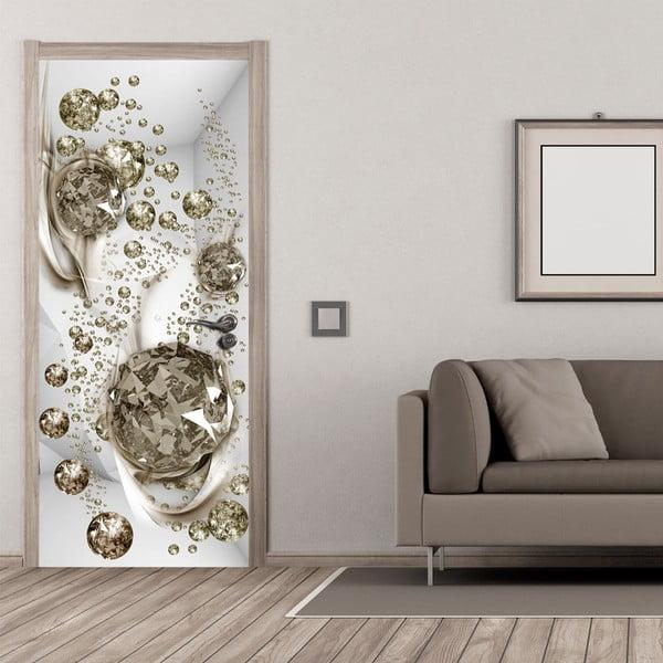 Tapeta na dveře v roli Bimago Bubble Abstraction, 80x210cm