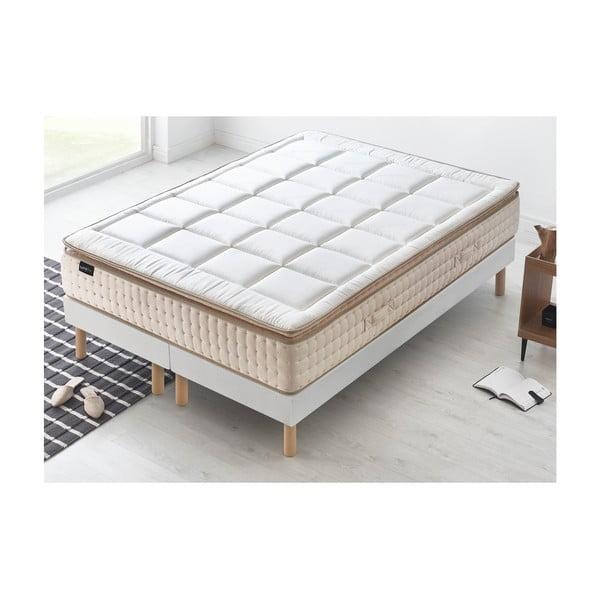 Biely matrac s krémovým okrajom Bobochic Paris Cashmere, 180 x 200 cm