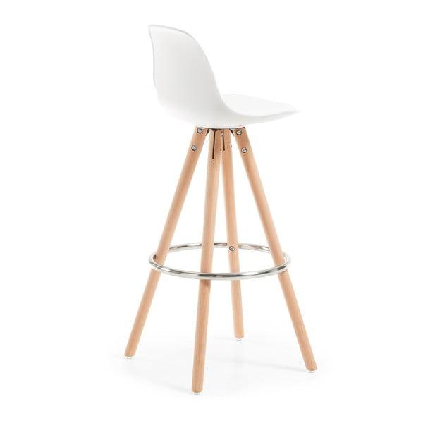 Sada 2 bílých barových židlí La Forma Stag
