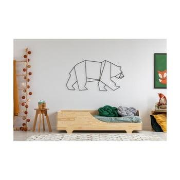 Pat din lemn de pin pentru copii Adeko Mila BOX 4, 60 x 120 cm