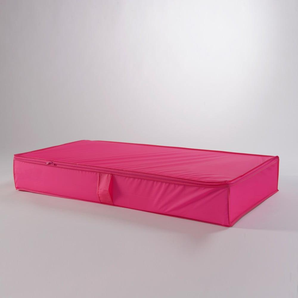 Růžový úložný box Compactor Garment, 100 x 15 cm