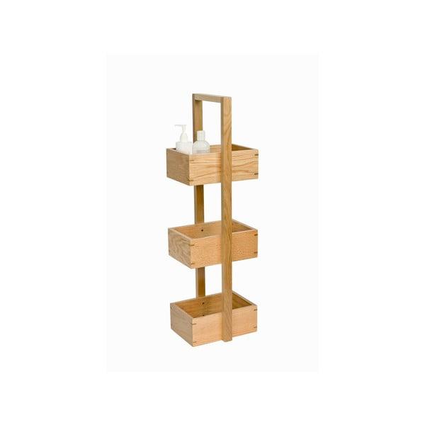 Stojan do koupelny z dubového dřeva Wireworks Caddy Mezza, výška 84 cm