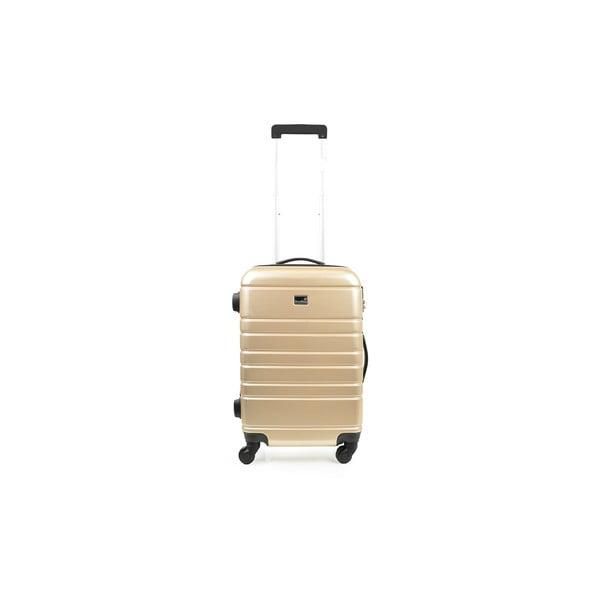 Set béžového kufru a příručního zavazadla BlueStarManhattan