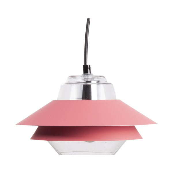 Růžové závěsné svítidlo sømcasa Pola, ø 18cm