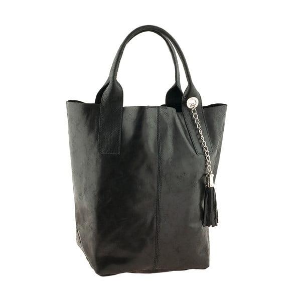 Černá kožená kabelka Ore Diece Laura