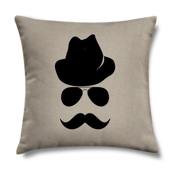 Polštář Mustache, 43 x 43 cm