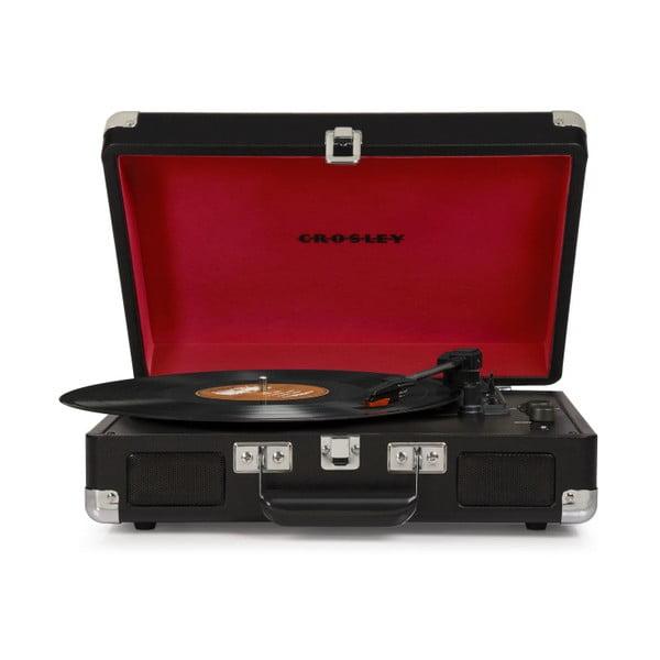 Czarno-czerwony gramofon Crosley Cruiser Deluxe
