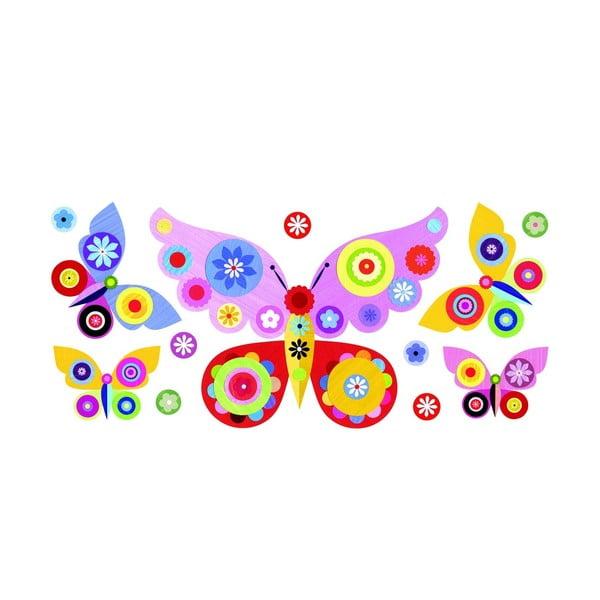 Znovu snímatelná samolepka Pink Butterflies