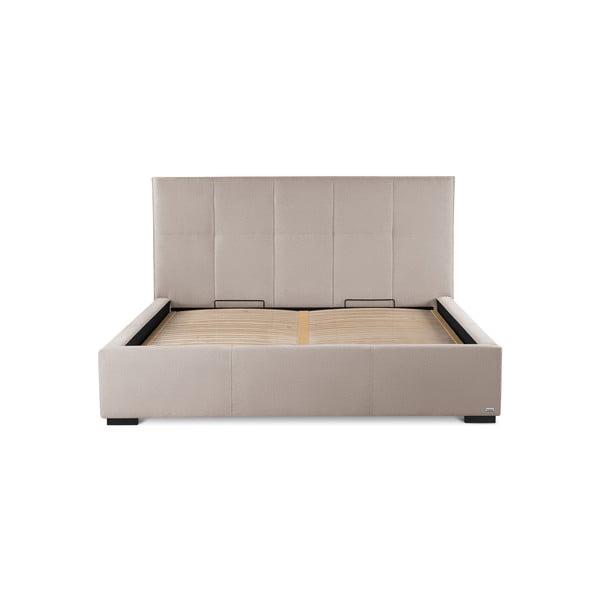 Pudrově růžová dvoulůžková postel s úložným prostorem Guy Laroche Home Allure, 160x200cm