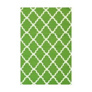 Vlněný koberec Kilim Jasmina Green, 160x230 cm