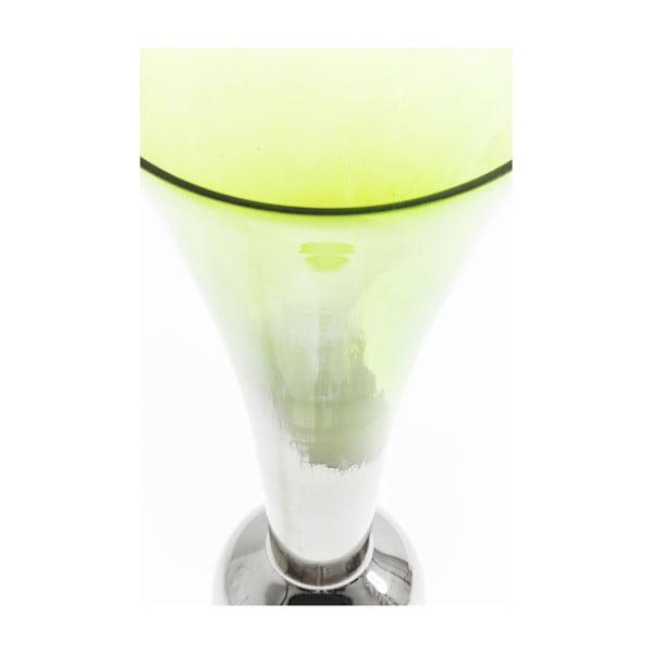 Vază din sticlă Kare Design Melange, înălțime 90 cm, verde