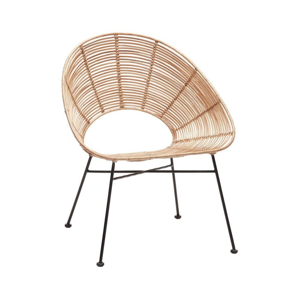 Přírodní ratanová židle Hübsch Aslog
