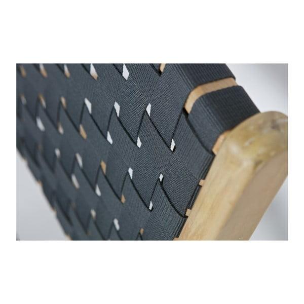 Křeslo s antracitově šedým výpletem vtwonen Frame