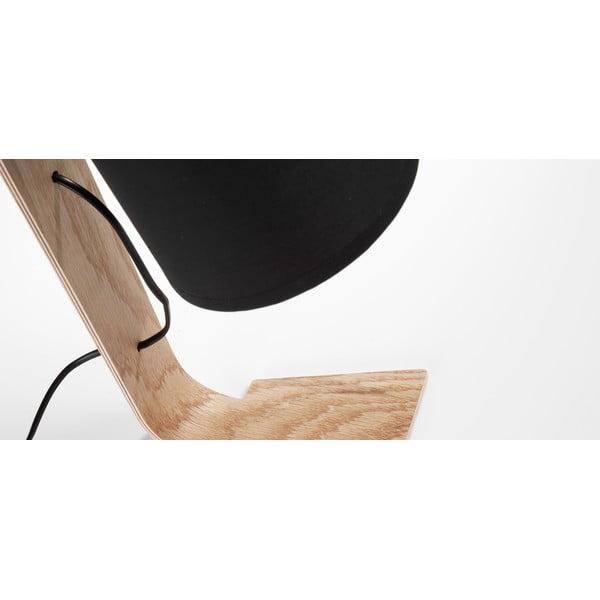Černá stolní lampa La Forma Percy