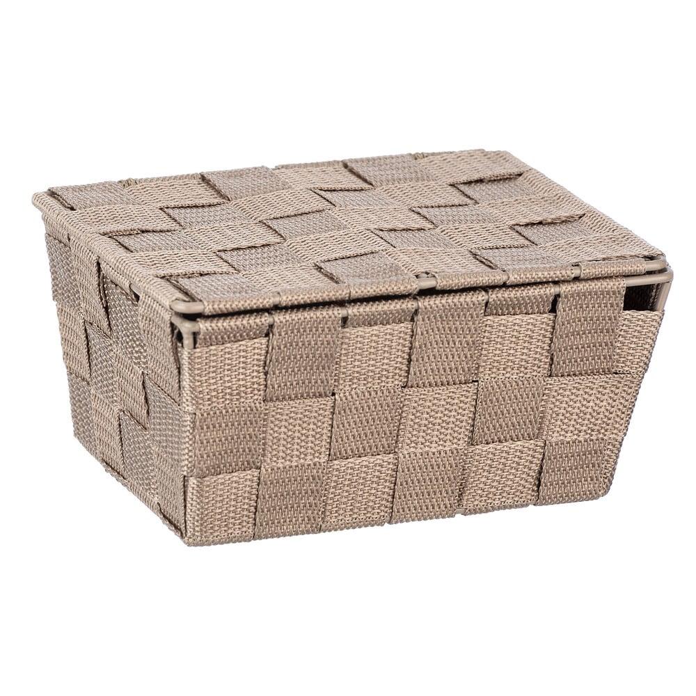 Produktové foto Béžový úložný box s víkem Wenko Adria, 19x14cm