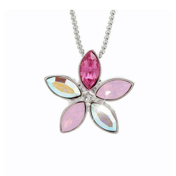Náhrdelník s růžovými krystaly Swarovski® Yasmine Flower