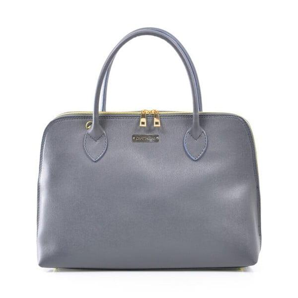 Kožená kabelka Dominique, šedá