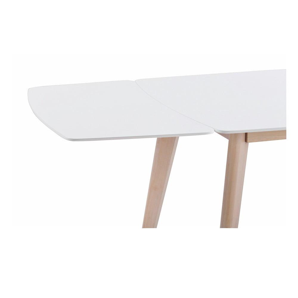 Bílá dubová přídavná deska k jídelnímu stolu Sylph