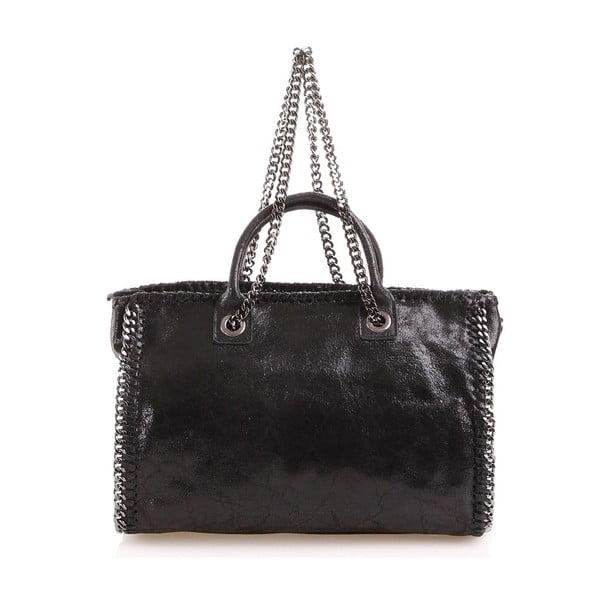 Kožená kabelka Gloria, černá