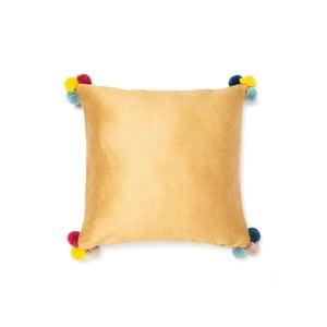 Zlatý polštář Pom Pom