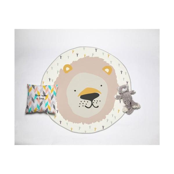 Dětský koberec Little Nice Things Lion, ⌀120cm