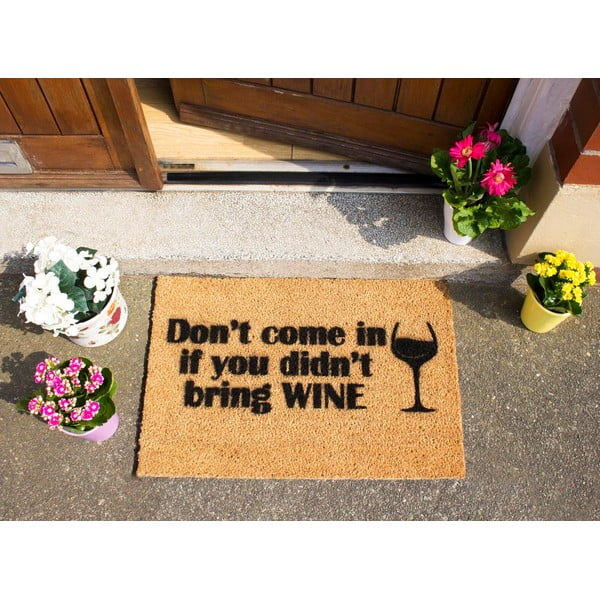 Rohožka Artsy Doormats Without Wine, 40x60 cm