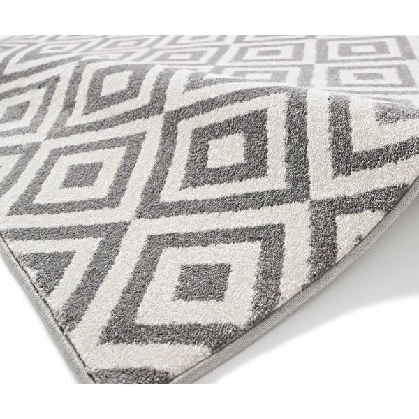 Šedobílý koberec Think Rugs Matrix, 120x170cm