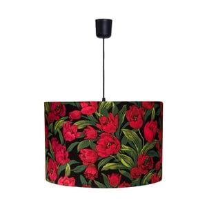 Závěsná lampa Tulipes Red/Black