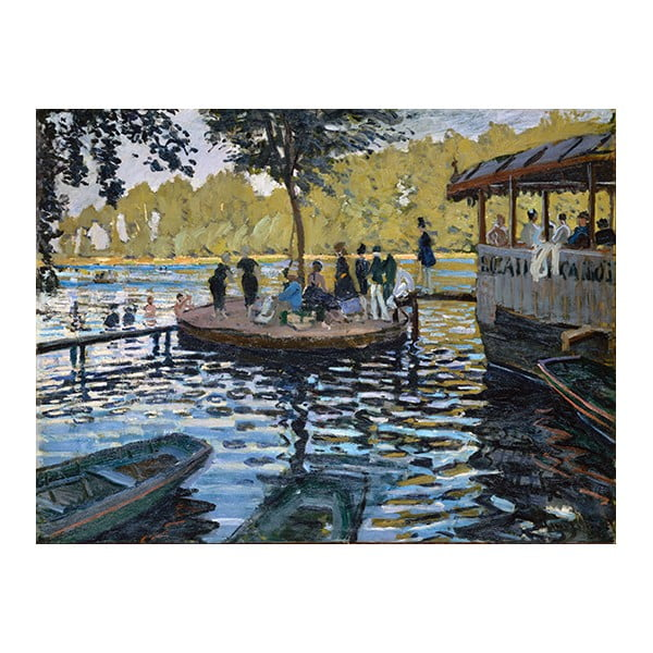 Obraz Claude Monet - La Grenouillère, 80x60 cm