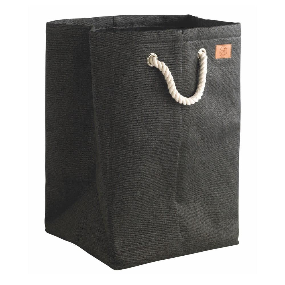 Černý koš na prádlo Zone, 50l