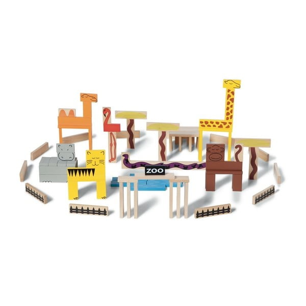 Stavebnice Animal Blocks