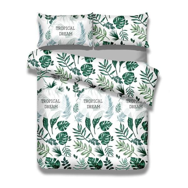 Sada bavlnenej obliečky na perinu a 2 obliečok na vankúše AmeliaHome Averi Botanique, 200 × 200 cm + 63 × 63 cm
