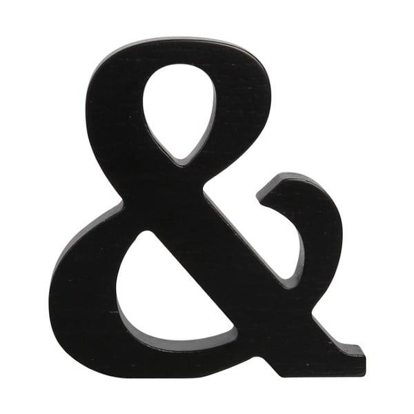 Černé dřevěné písmeno Typoland &